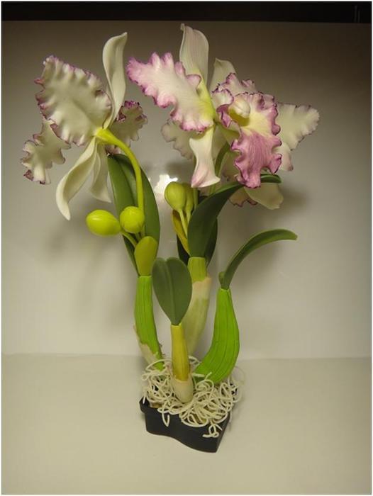 Цветы из полимерной глины. Катталея. Мастер-класс