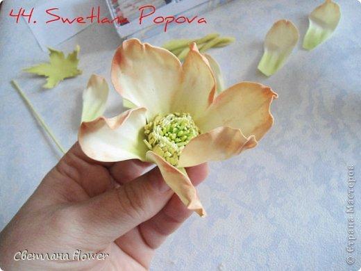 Цветок из соломки и вспомогательного материала