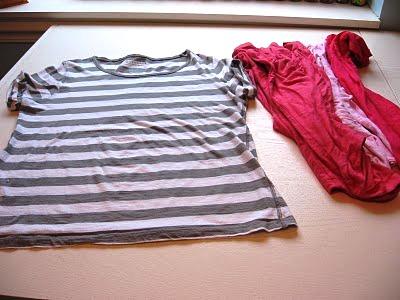Шьем из старых футболок платье для девочки