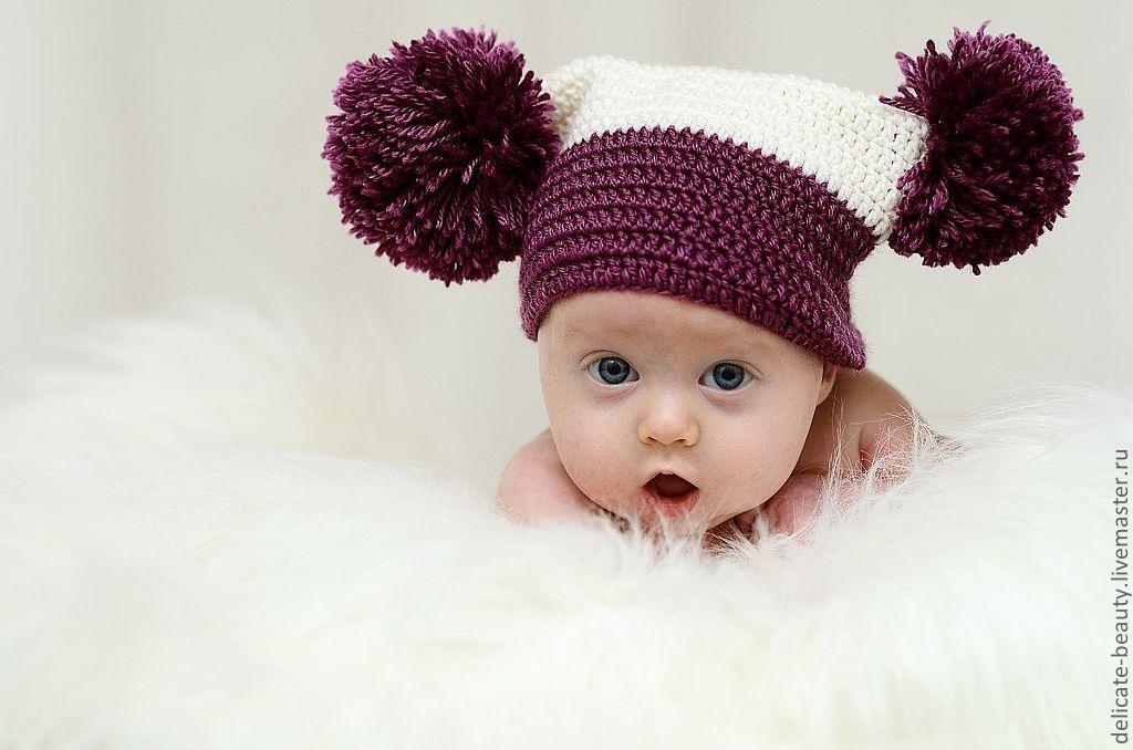 вязаные детские шапочки идеи и вдохновение