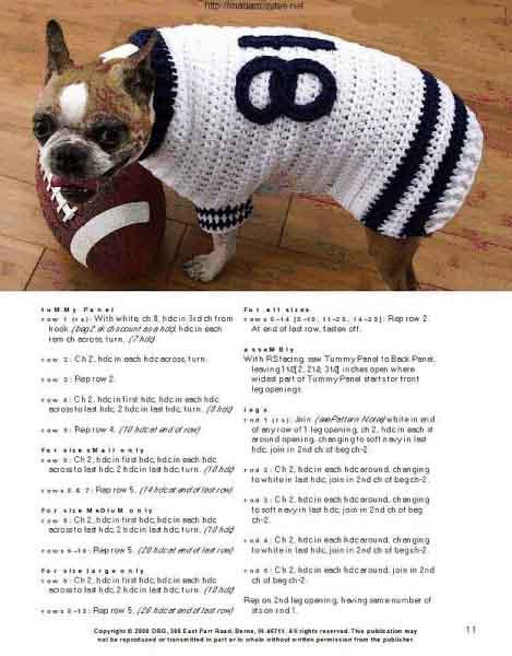 вязание крючком для животных схемы и описания свитеров платьев