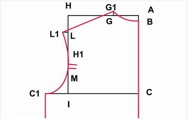 63d23f41ad75b50 Как построить выкройку-основу мужской футболки самостоятельно
