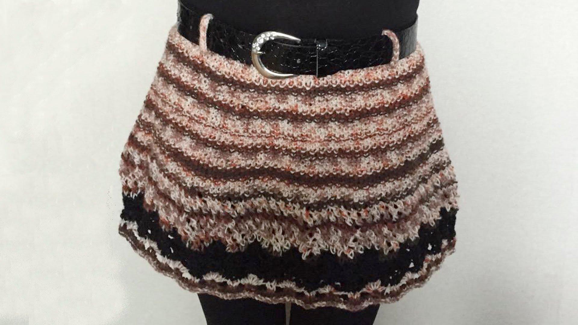 Бесшовная юбка спицами от HANA JASON
