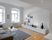 Белый интерьер маленькой шведской квартиры