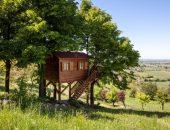 Дома на деревьях. Уютная избушка на дереве во Франции