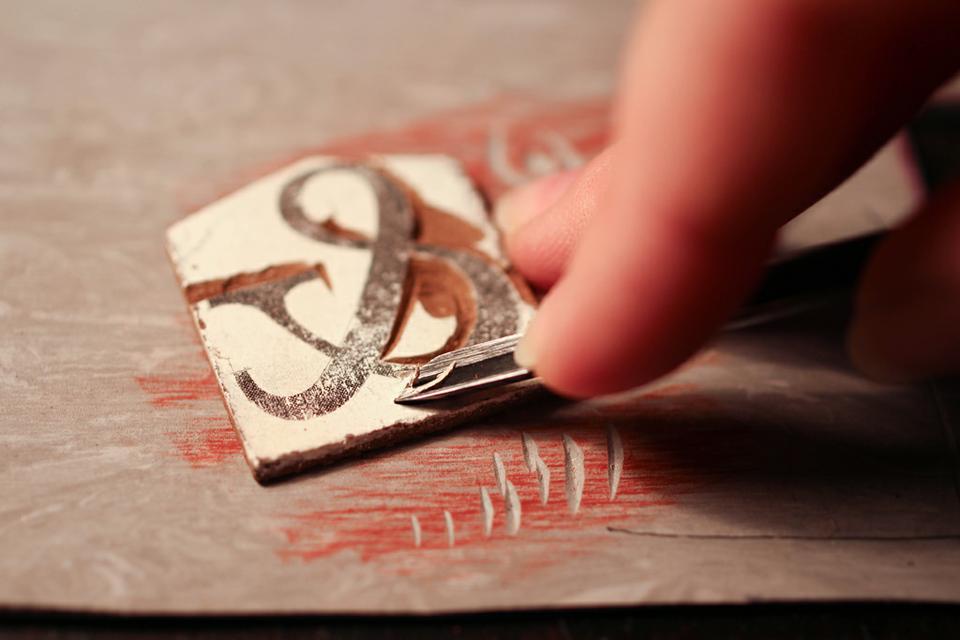 Создание штампов для печати на ткани своими руками