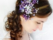 Свадебная заколка для волос своими руками