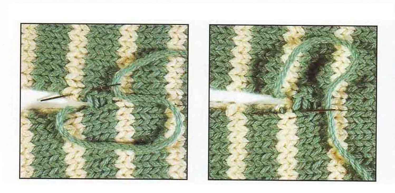 Соединение деталей трикотажнными швами