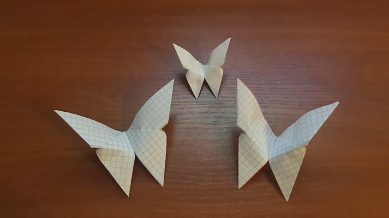 Винтажная бабочка-оригами из книжной страницы