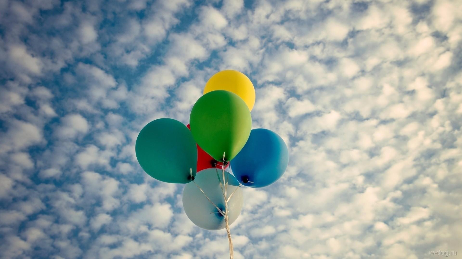 Облако из воздушных шариков для фотосессии