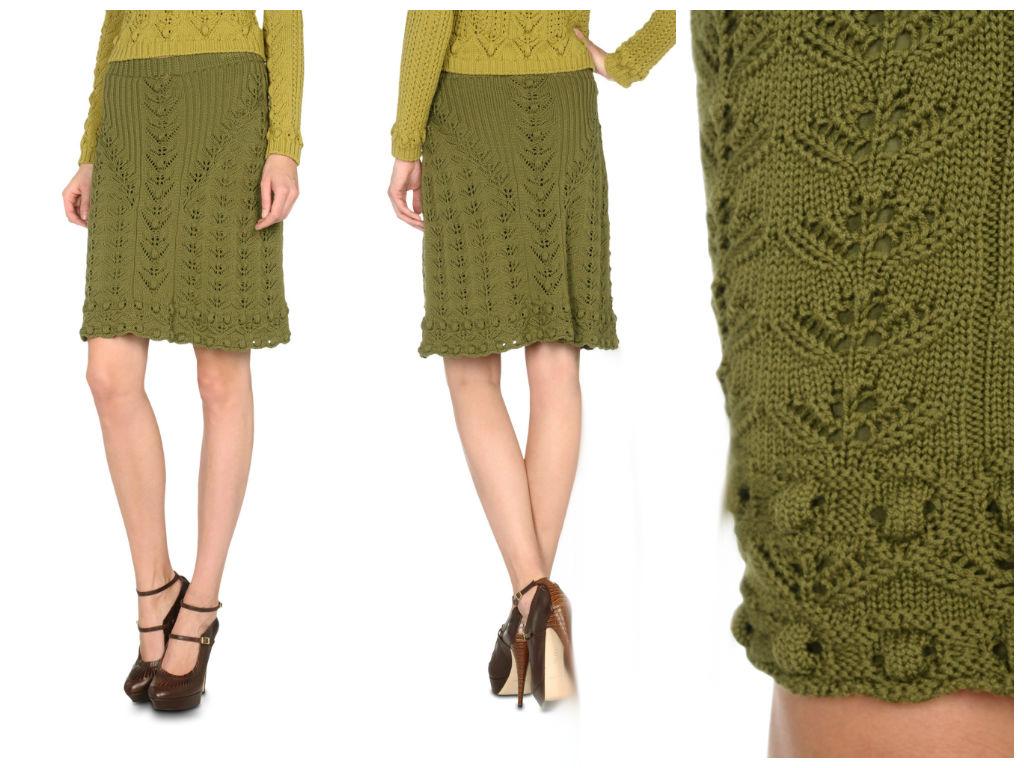 Длинные, короткие, юбки-карандаши и миди спицами
