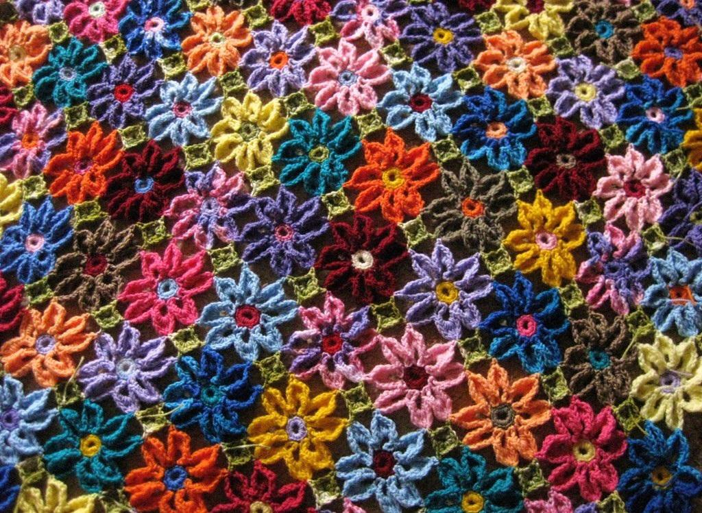 Красивое покрывало крючком схемы вязания