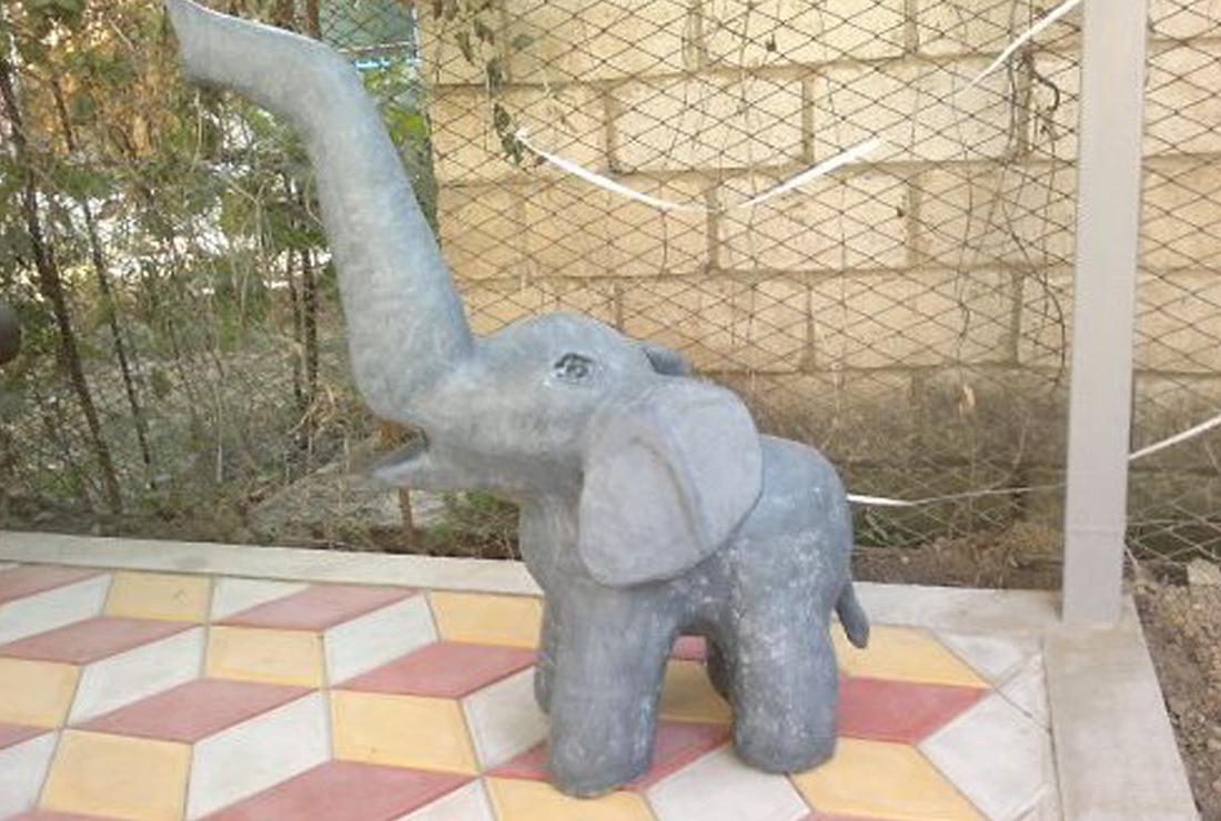 Садовая фигурка своими руками — слоник из монтажной пены