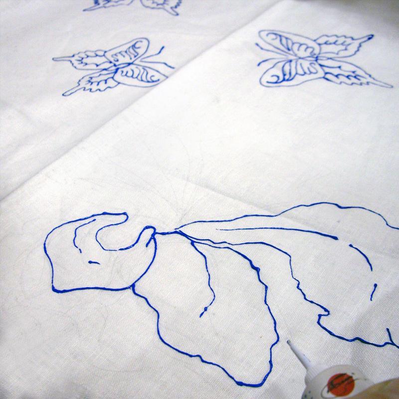 Принт по ткани. Мастер-класс красивой подушки