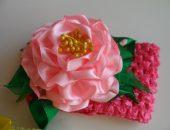 Цветок из тюлевой ленты для украшения волос. Мастер-класс