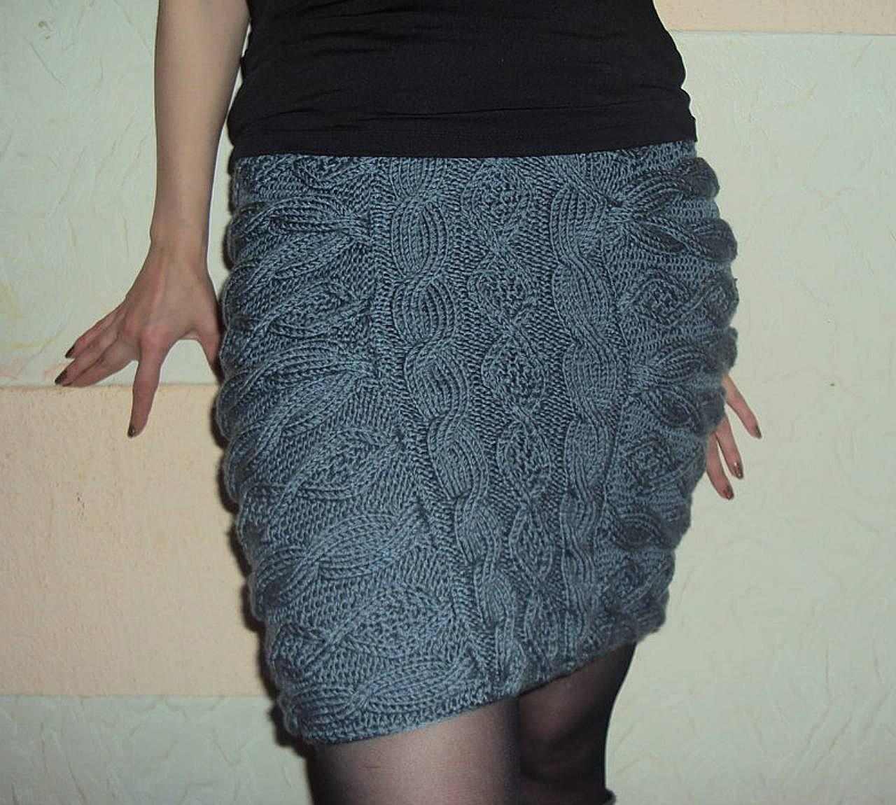Длинные и короткие юбки спицами