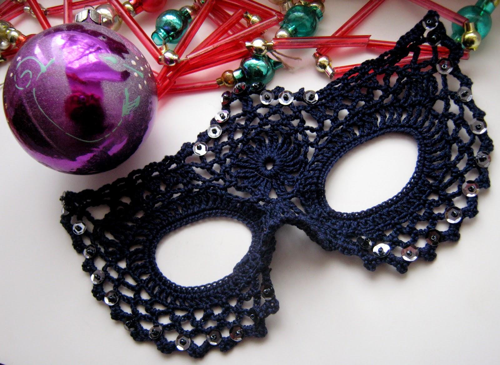 Карнавальные маски крючком. Описание