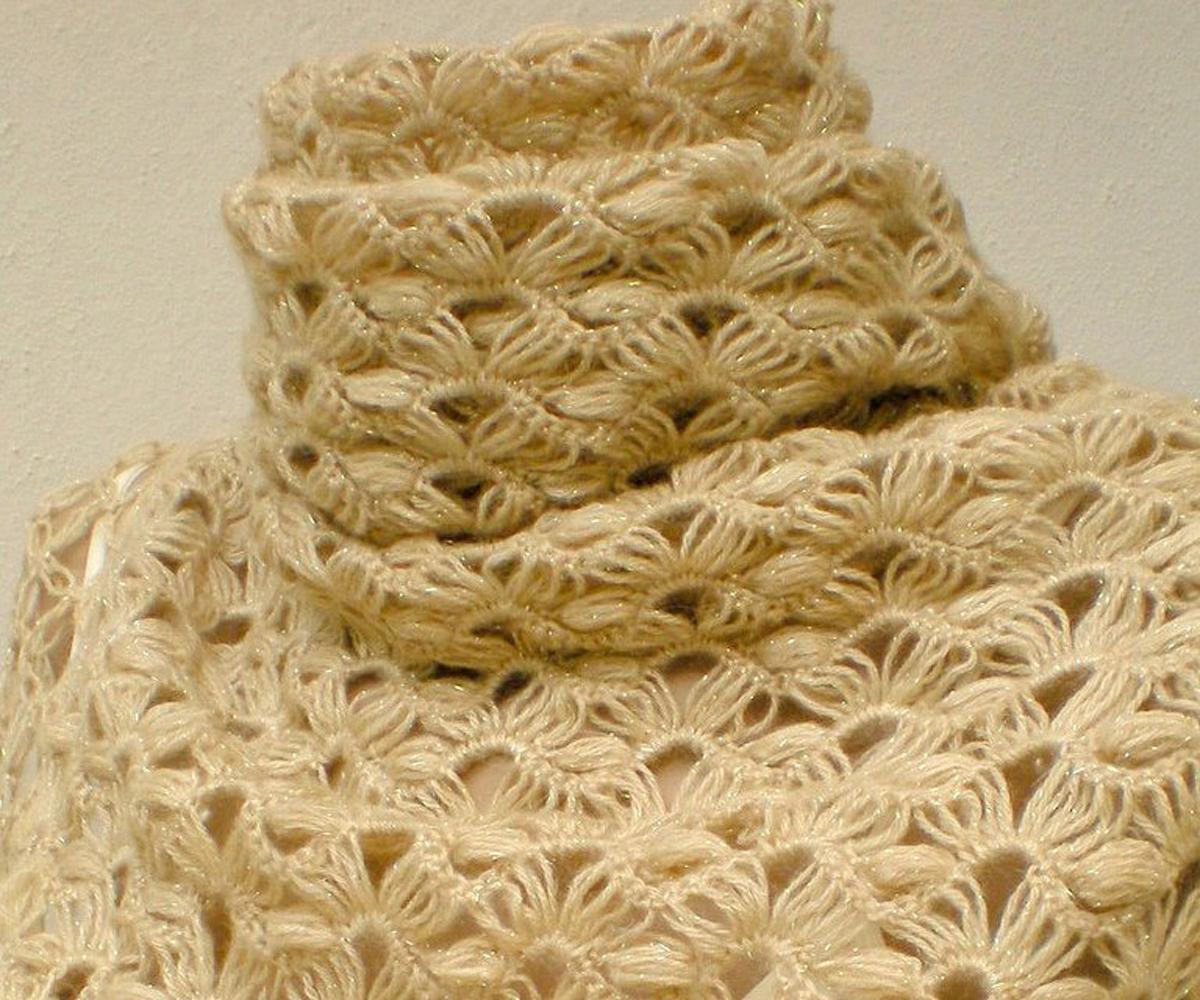 Вытянутые (длинные) петли, связанные на рейке