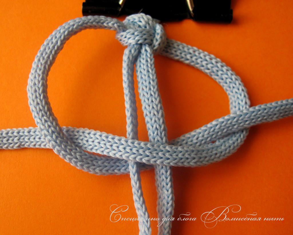 Как сплести браслет на шнуре