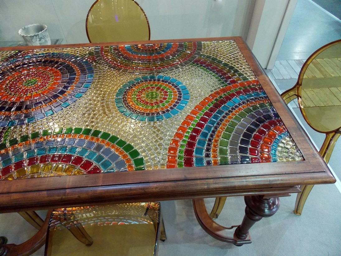 Как украсить столешницу мозаикой своими руками
