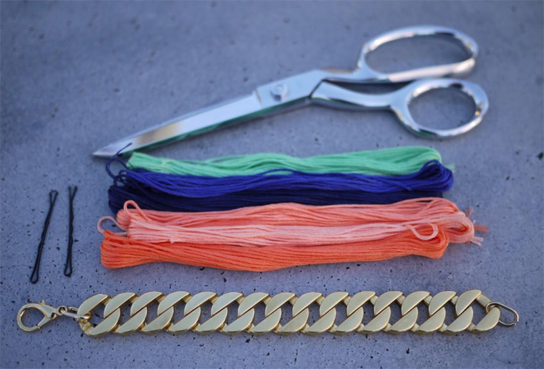 Яркие браслеты-цепочки своими руками