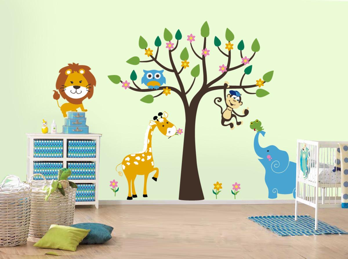 МК роспись стены в детской комнате