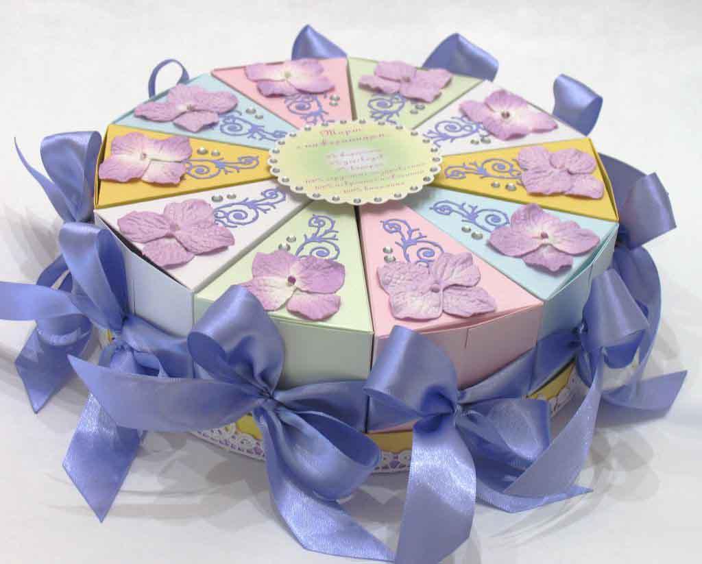 Подарок торт. Идея бонбоньерок