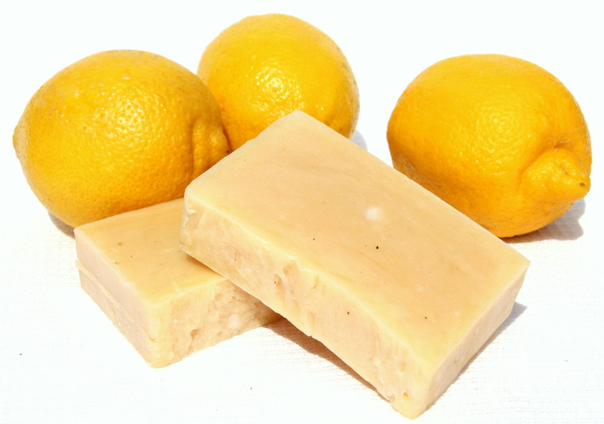 Лимонное мыло своими руками
