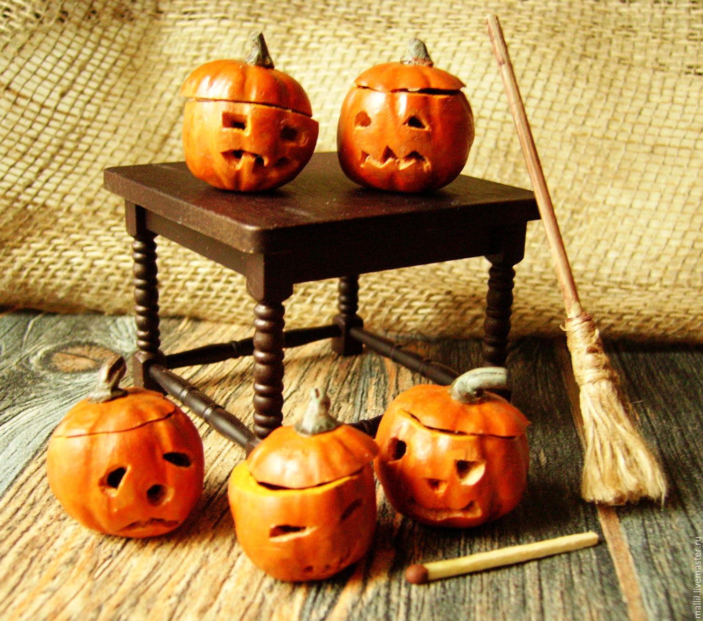 Тыква к Хэллоуину из пластики