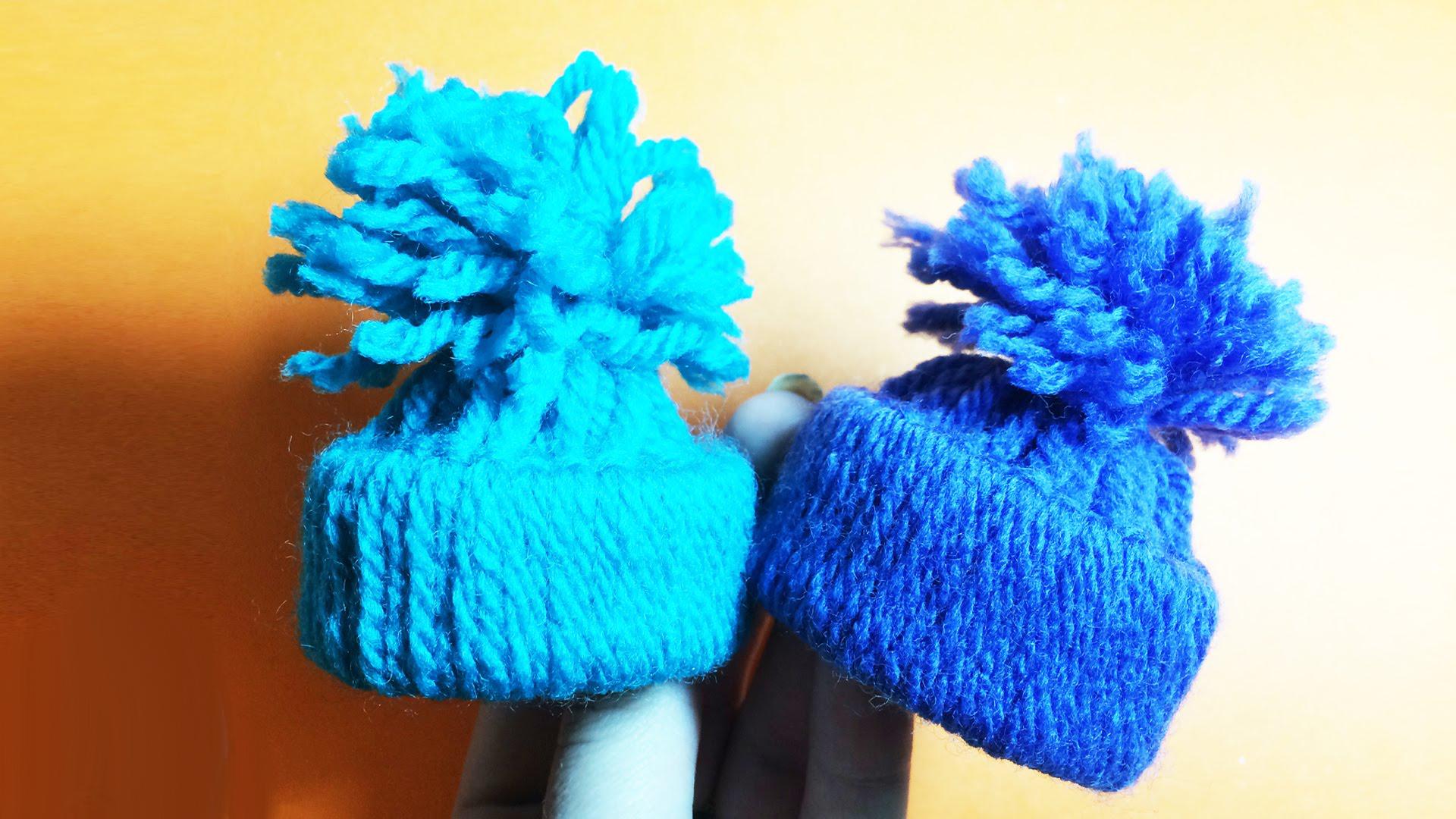 Мини-шапочки — игрушки на елку своими руками