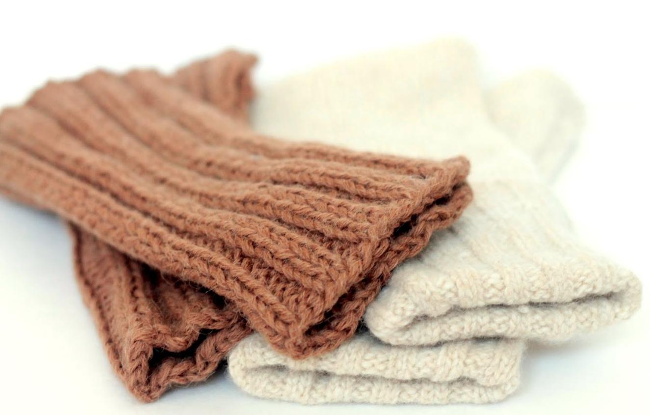 Угги из старого свитера
