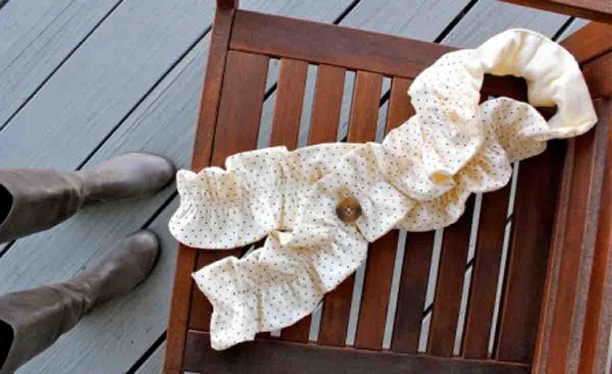 Шьем шарф на пуговице
