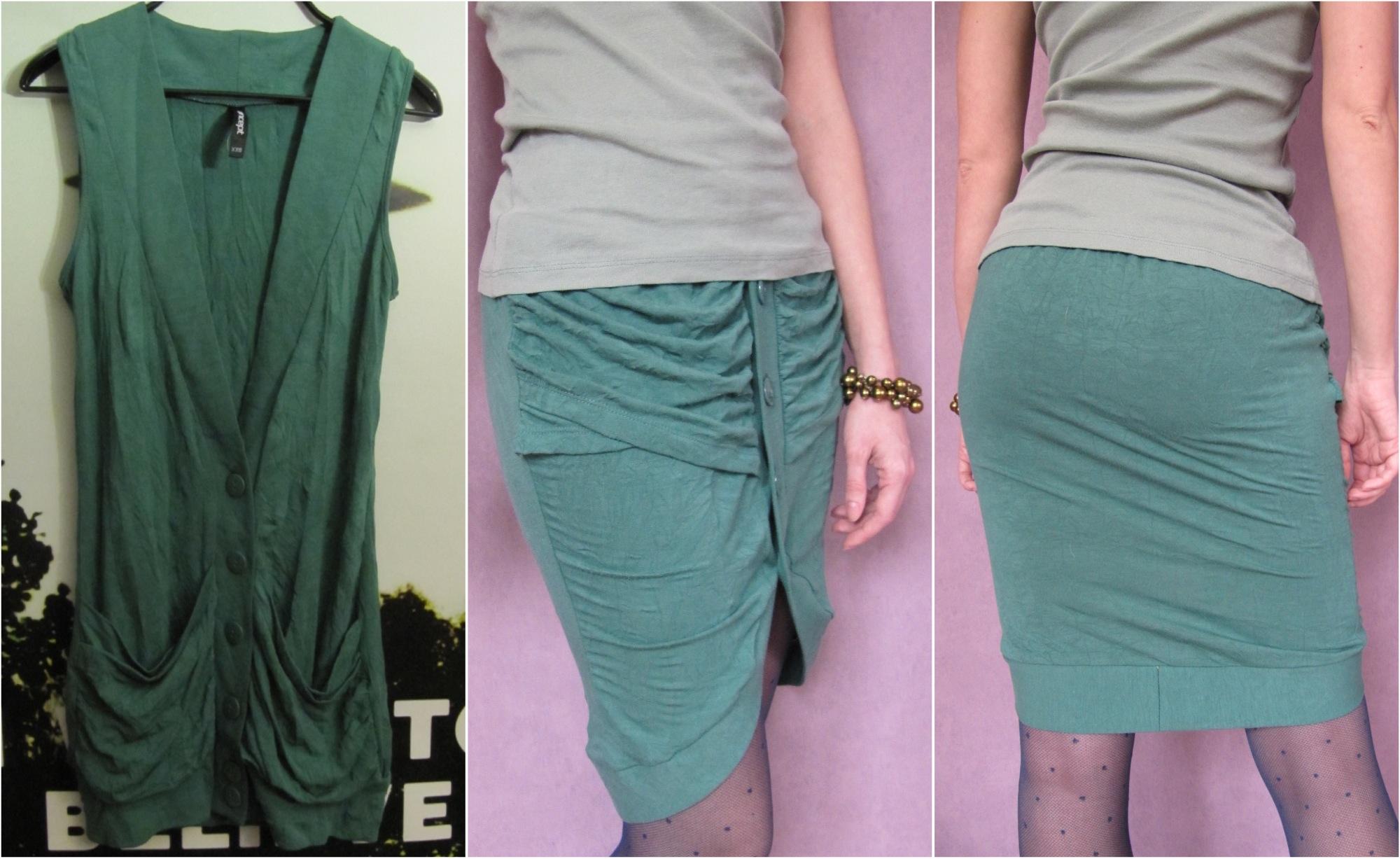 Переделка устаревшей футболки в юбку