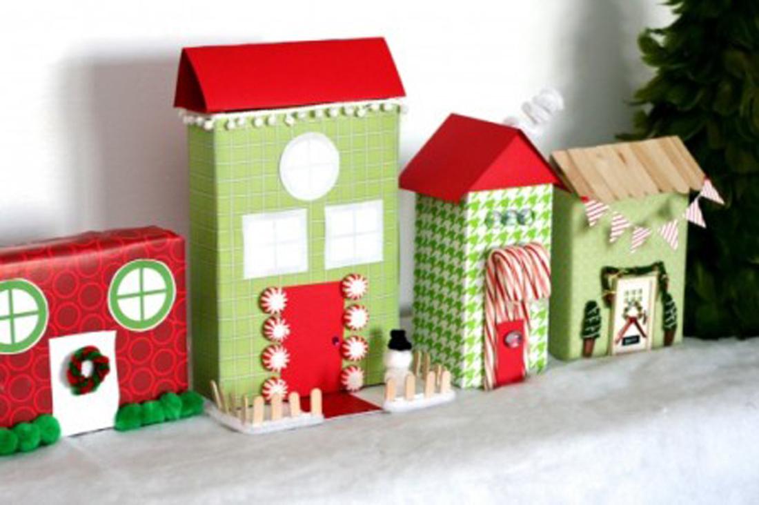 Рождественский город из коробок