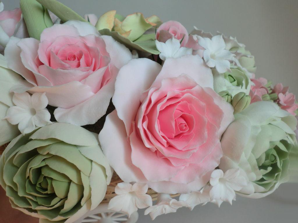 Цветы в стиле шебби-шик. Мастер-класс