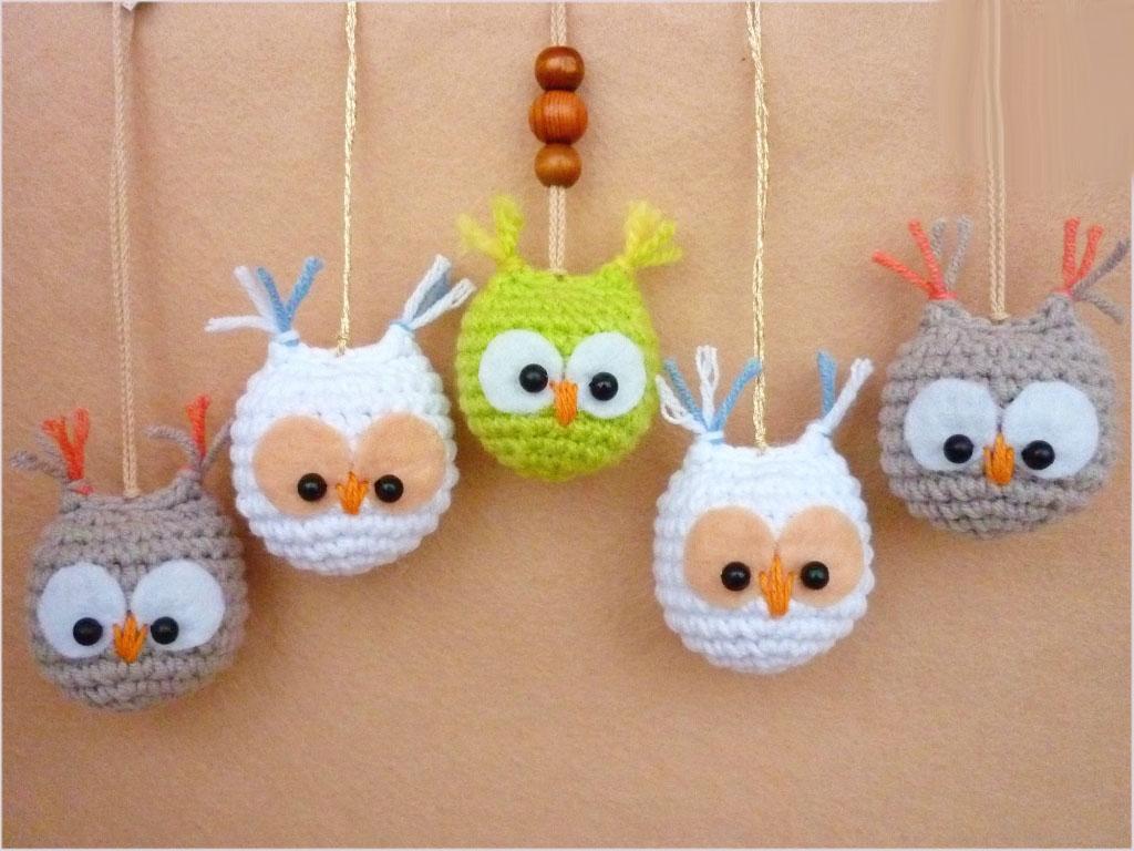 Вязаные миниатюрные игрушки