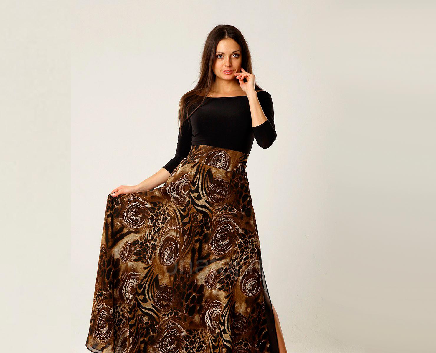 Длинная юбка-солнце
