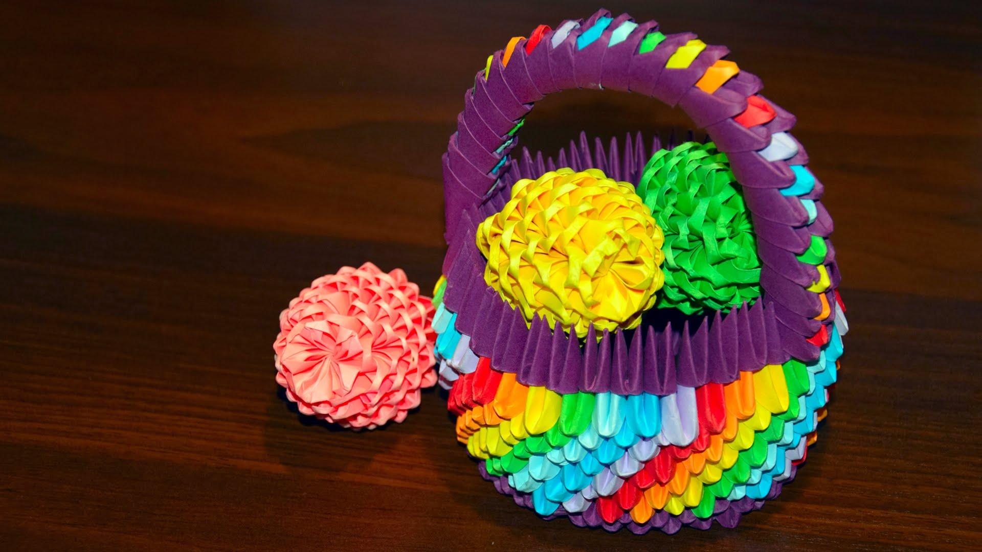 Корзинка-оригами