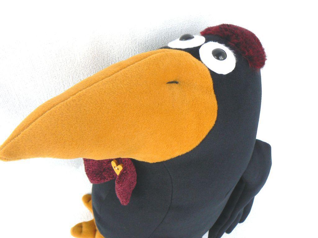 Ворона. Как сшить игрушку из носков