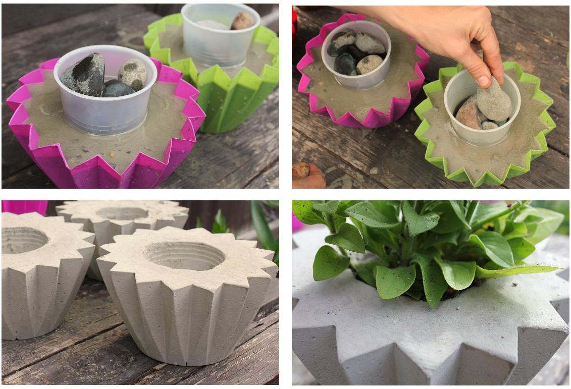 Вазоны и кашпо из бетона для ландшафтного дизайна