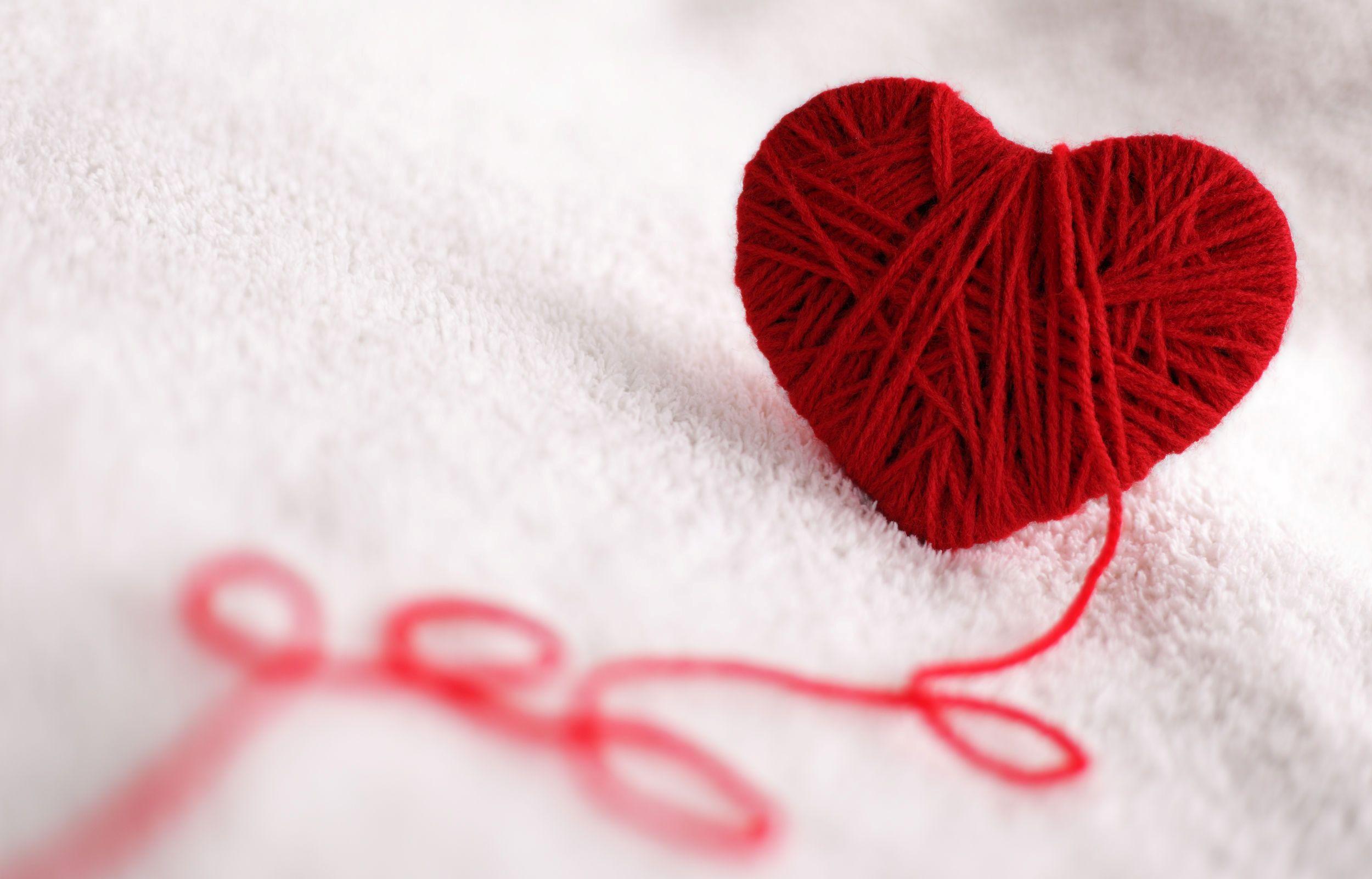 Сердечко из ниток