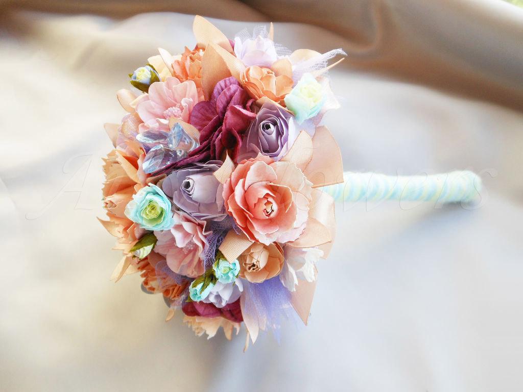 Свадебный букет из бумажных роз своими руками. Шаблоны