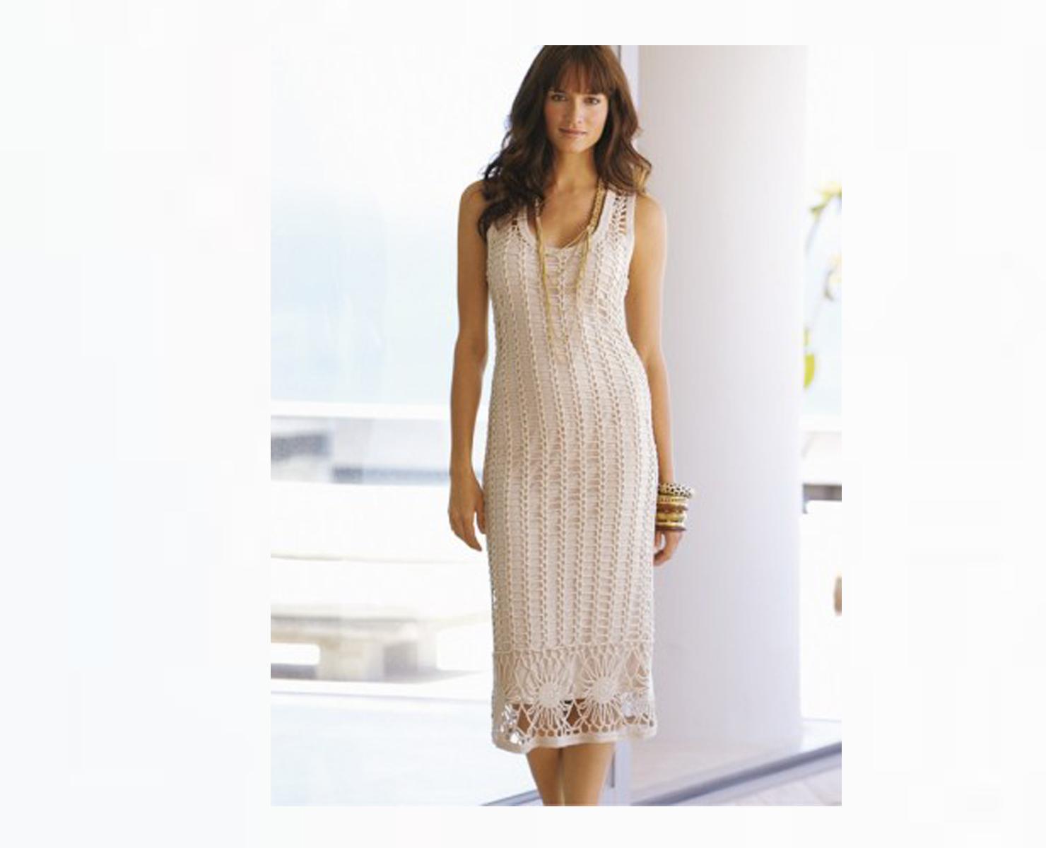 Платье Белая сеть