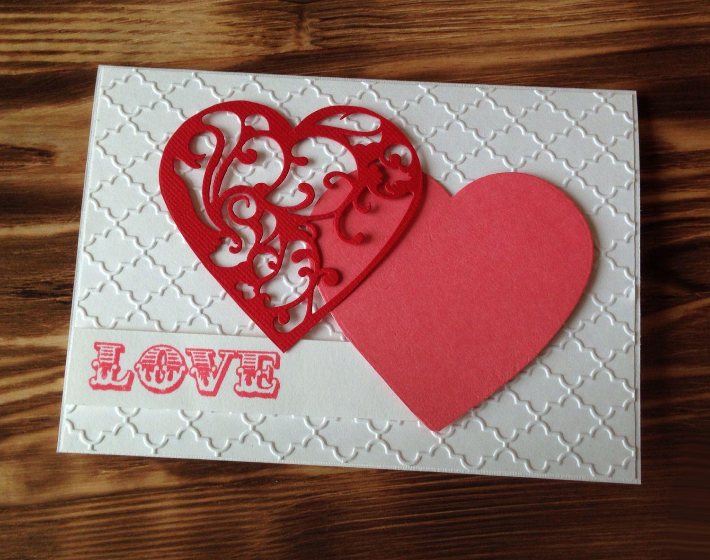 Как сделать открытку из сердец