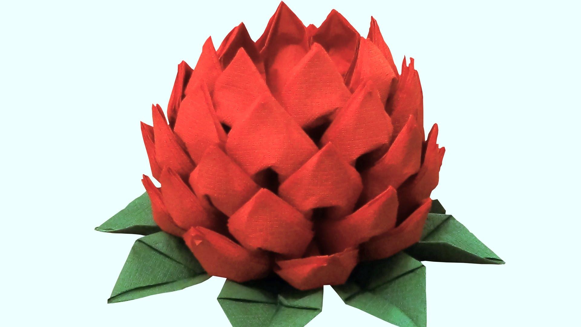 Цветы из салфетки — украшение стола