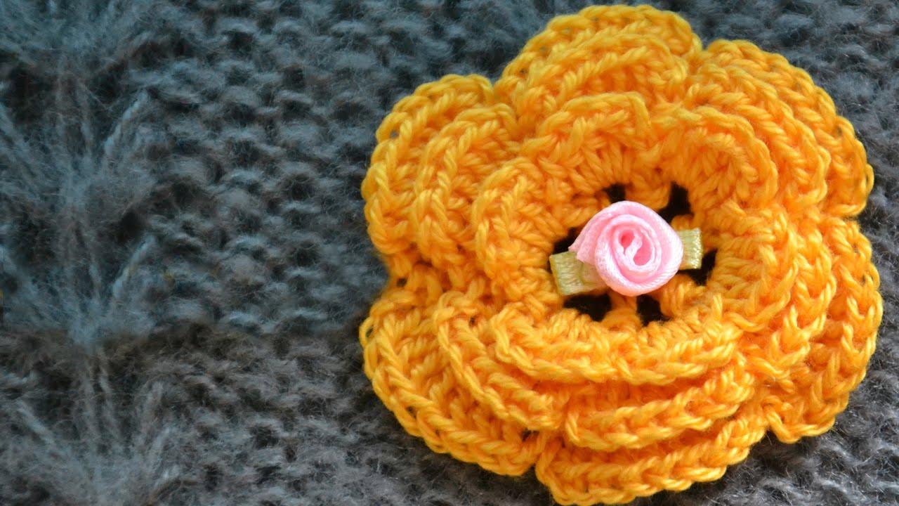 Схема вязания крючком узора цветы