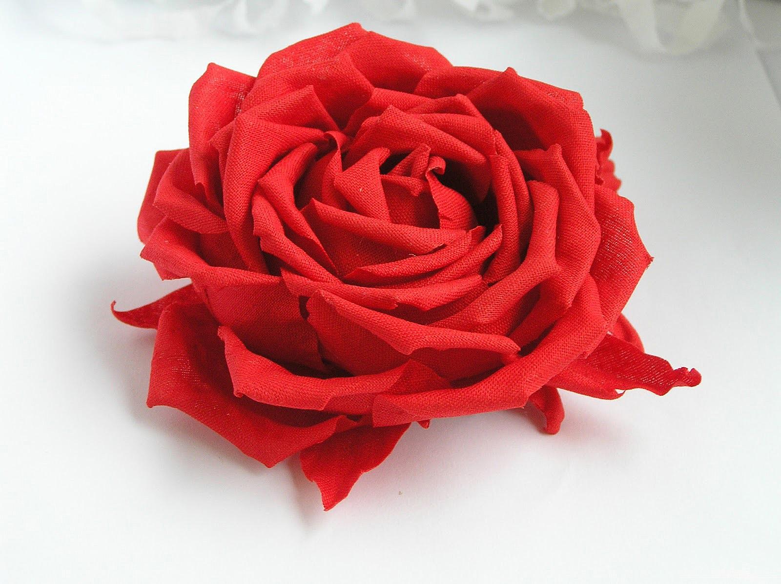 Цветок из ткани своими руками. Мастер-класс