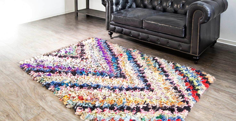 Как сделать коврик из полосок ткани своими руками