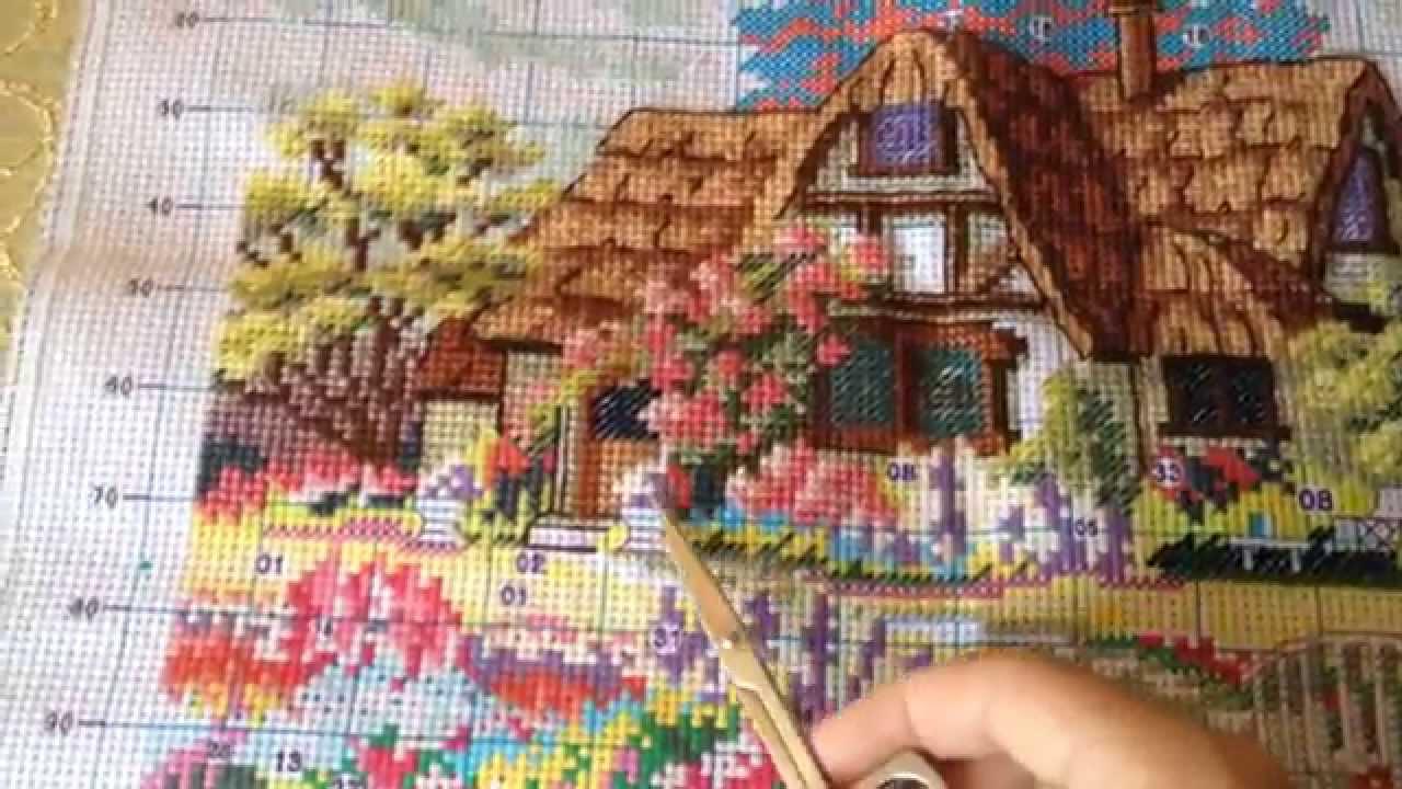 Домик схемы для вышивания крестиком