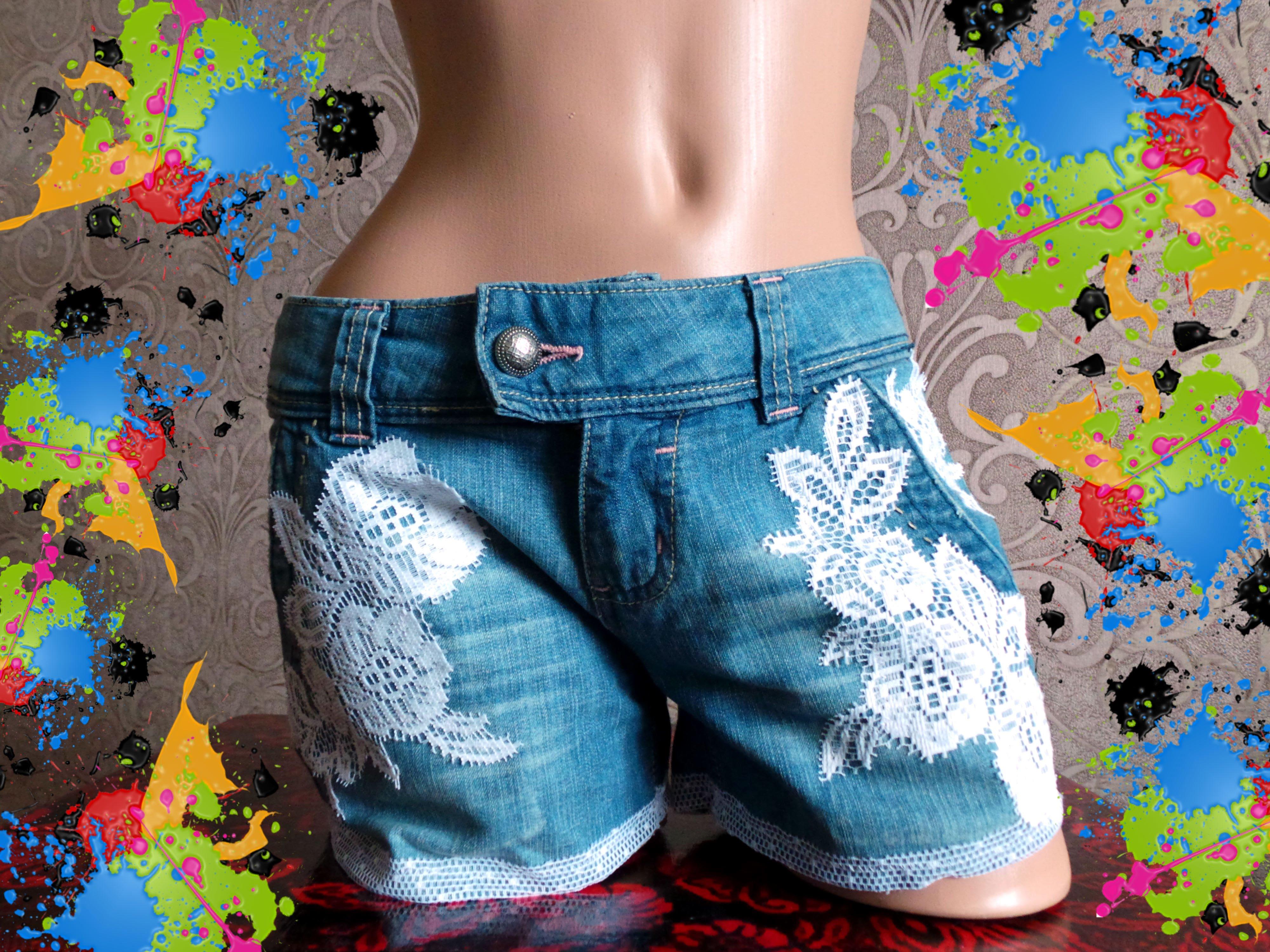 Переделываем джинсы в шорты, бриджи